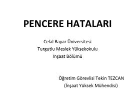 pencere hataları - Celal Bayar Üniversitesi
