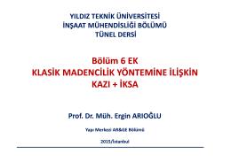 6. BÖLÜM EK - Yıldız Teknik Üniversitesi