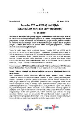 5. LEVENT - Torunlar GYO