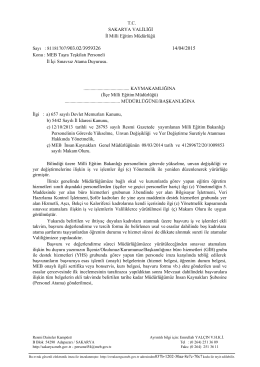İl İçi Sınavsız Atama Duyurusu - Erenler İlçe Milli Eğitim Müdürlüğü