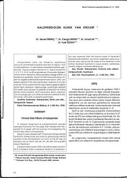 haloperidolün klinik yan etkileri