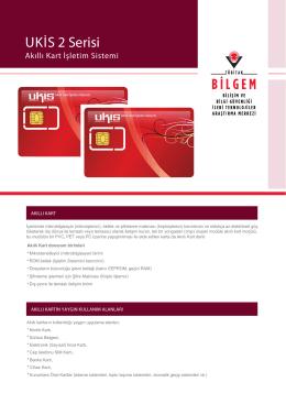 UKİS 2 Ser s - Akıllı Kart İşletim Sistemi