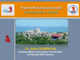 Hipertrofik Kardiyomiyopati: Epidemiyoloji ve Genetik