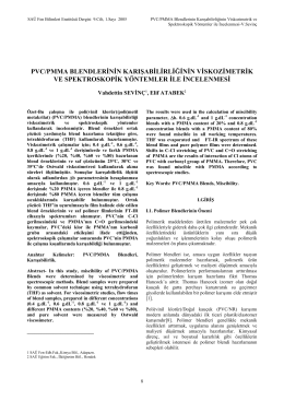 pvc/pmma blendlerinin karışabilirliğinin viskozimetrik ve