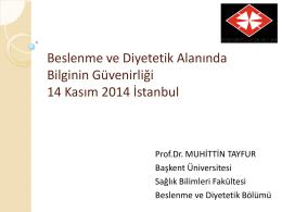 PowerPoint Sunusu - İstanbul Sağlık ve Beslenme Bienali