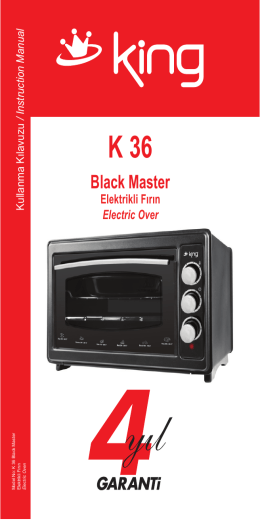 K 36 Black Master Kullanma Klavuzu