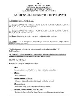 6. sınıf nakil geçiş seviye tespit sınavı - DEU
