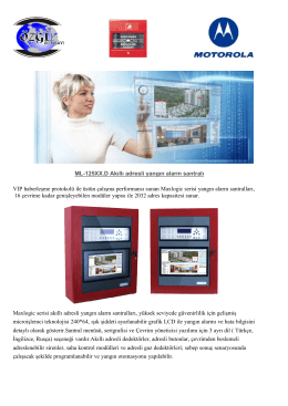 ML-125XX.D Akıllı adresli yangın alarm santralı VIP haberleşme
