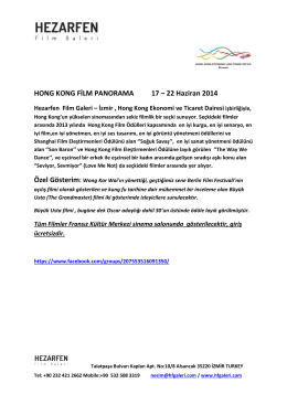 HONG KONG FİLM PANORAMA 17 – 22 Haziran 2014
