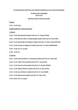 EÜ Fen Bilimleri Enstitüsüne bağlı lisansüstü eğitim programları