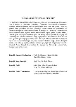 İş Sağlığı ve Güvenliği Günleri - İstanbul Yeni Yüzyıl Üniversitesi
