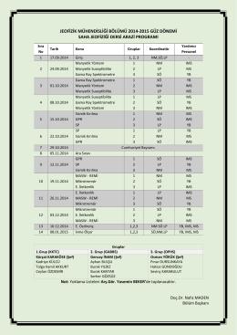 jeofizik mühendisliği bölümü 2014