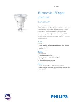 Product Familiy Leaflet: CorePro LEDspot MV