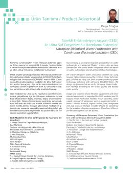Turchem Dergisi Mart Nisan 2014 - avt su teknolojileri otomasyon