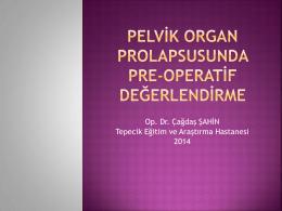 Pelvik organ prolapsusunda preoperatif değerlendirme