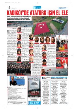KADIKÖY BELEDİYESİ GÖNÜLLÜLERİ Türkiye