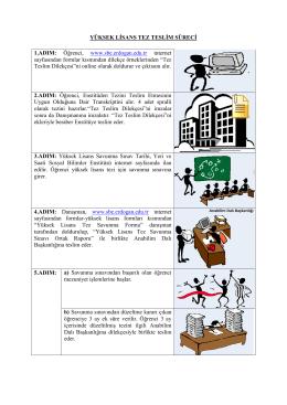 YÜKSEK LİSANS TEZ TESLİM SÜRECİ 1.ADIM: Öğrenci, www.sbe