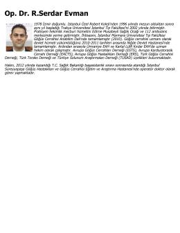 Op. Dr. R.Serdar Evman - Süreyyapaşa Göğüs Hastalıkları Hastanesi