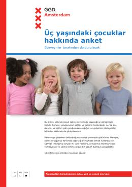 Üç yaşındaki çocuklar hakkında anket