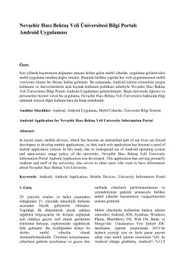 Nevşehir Hacı Bektaş Veli Üniversitesi Bilgi Portalı Android