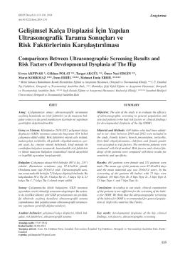 Gelişimsel Kalça Displazisi İçin Yapılan Ultrasonografik Tarama