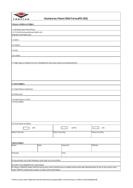 Uluslararası Patent Ödül Formu(PD-202)