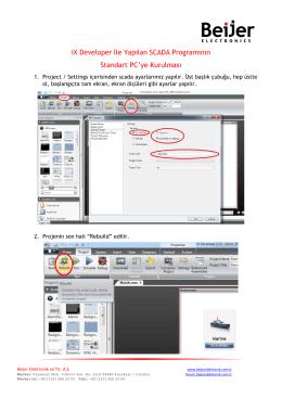 iX Developer İle Yapılan SCADA Programının Standart PC