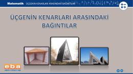 üçgenin kenarları arasındaki bağıntılar