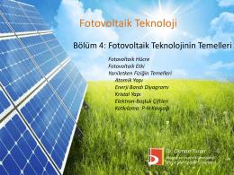 Fotovoltaik hücre - Bilecik Şeyh Edebali Üniversitesi Makine ve