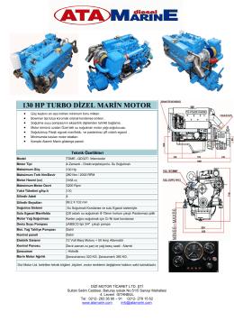 130 hp turbo dizel marin motor - AtaMarinE Dizel Deniz Motorlari