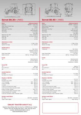 Servet 80.3E+ (4WD) Servet 80.4E+ (4WD)