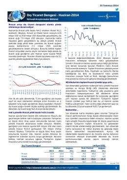 Dış Ticaret Dengesi - Haziran 2014