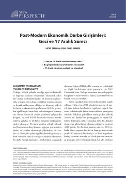 Post-Modern Ekonomik Darbe Girişimleri: Gezi ve 17 Aralık