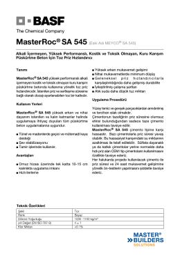 MasterRoc® SA 545 (Eski Adı MEYCO® SA 545) Alkali