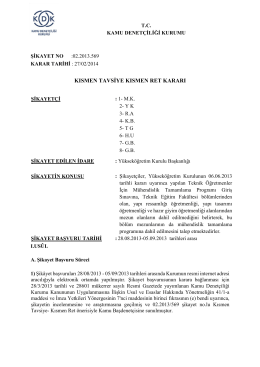 Dosya No:02.2013-569 - Mühendislik Tamamlama Programı Kararı