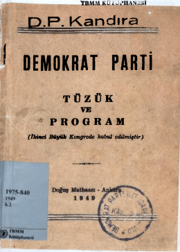 200705643 DP TUZUK VE PROGRAM 1949