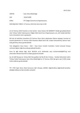 TFF Olağan Genel Kurul Organizasyonu.