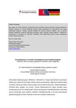 Almanya Notları 4 - İstanbul Bilgi Üniversitesi
