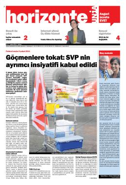 Göçmenlere tokat: SVP nin ayrımcı insiyatifi kabul edildi