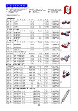 Teknokontrol Hidrolik Pnömatik Mühendislik Ltd. Şti.