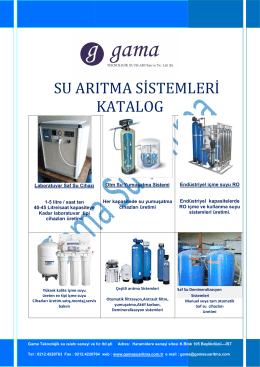 su arıtma sistemleri katalog