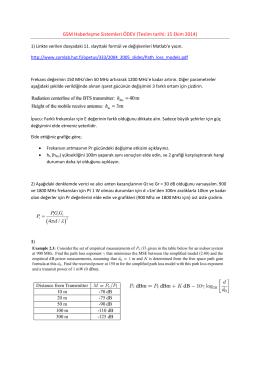 GSM Haberleşme Sistemleri ÖDEV (Teslim tarihi: 15 Ekim 2014) 4