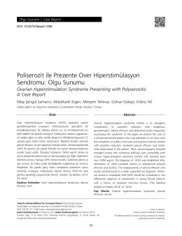 Poliserozit ile Prezente Over Hiperstimülasyon Sendromu: Olgu
