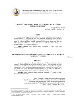 1/2 2013, Sayfa: 41-48. Xelqara Uyğur Tetqiqati Jornali, San: 1/2