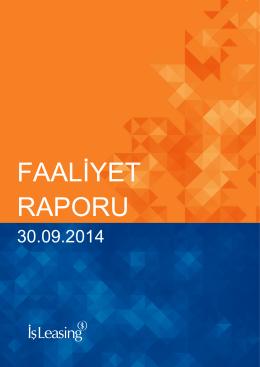 30.09.2014 Faaliyet Raporu