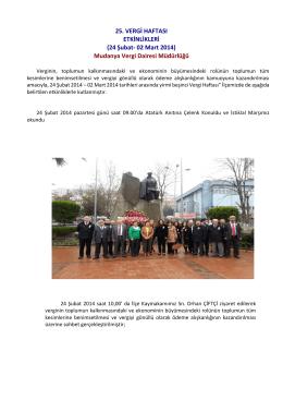 Mudanya Vergi Dairesi Müdürlüğü - Bursa Vergi Dairesi Başkanlığı
