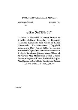 ss 617:Mizanpaj 1.qxd - Türkiye Büyük Millet Meclisi