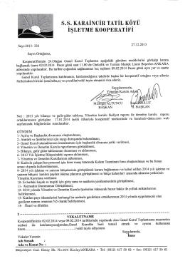 S.S. KARAINCIR TATIL ııövü
