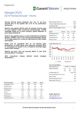 Hürriyet (TUT) - Garanti Yatırım