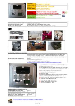 Ofis-Proje Müzik Sistemi Katalogu